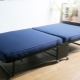 Double folding bed