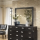 Dresser with mirror in the bedroom