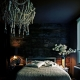 Bedrooms in dark colors