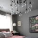 Bedroom in gray tones