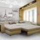 Corner sofas with accordion mechanism