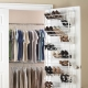 Ideas for storing shoes in the closet