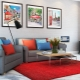 Red carpet - a bright solution in the interior