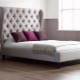 Bed with a high headboard
