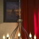 Chandeliers avec des bougies