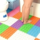 Rubber mats in the bathroom