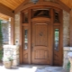Entrance wooden doors for a private house