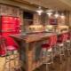 Loft style bar stools