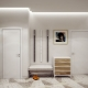 White hallway: the advantages of light colors in the interior