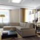 Ontwerp eenkamer appartement van 35 vierkante meter. m.