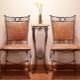 Vilken design är lämpliga smidda stolar?