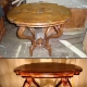 Comment restaurer l'ancienne table de vos propres mains?