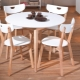Round tables from Ikea in the interior