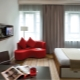 Fashionable room design with an area of 18 sq. M