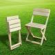 Características de las sillas plegables de madera.
