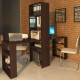 Desk with shelving - compact furniture in the room