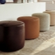 Padded stools in a hall: convenience and functionality
