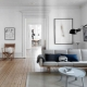 Stile scandinavo all'interno dell'appartamento