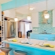 Turquoise tile in a modern interior