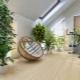 अपार्टमेंट के इंटीरियर में फूल और पौधे