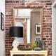 Dekorativ tegelsten inuti lägenheten: vackra designmöjligheter
