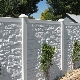 Decorative concrete fence: beautiful design options