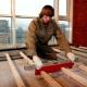 Trägolv på stockar: funktioner och läggning