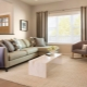 Living room in beige tones: design features