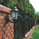Brick fence in landscape design