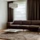 Vackra gardiner i vardagsrummet: snygga lösningar