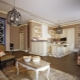 Kitchen-living room in Provence style: comfort and practicality in the interior