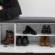 Shelves with a seat in the hallway: modern ideas