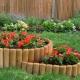 फूलों के बिस्तरों के लिए बाड़: मूल विचार