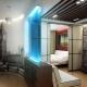 Indeling eenkamer appartement: de beste ontwerpmogelijkheden