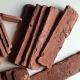 Antique brick tiles: unusual interior finishes