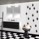 Tile-rhombus in interior design