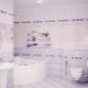 Lilac tile: stylish interior design