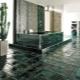 Gröna golvplattor: vackra idéer för en elegant inredning