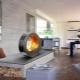Elektriska eldstäder med effekt av en levande flamma i inredningen