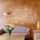 Plâtre texturé en design d'intérieur