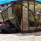 Coquille de garage: avantages et inconvénients, tailles standard