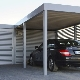 Garages with a canopy: an overview of modern projects, options with hozblok
