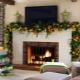 Eldstad dekoration idéer för nyår och andra helgdagar