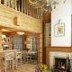 Ideas for interiors of houses from timber