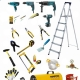 Tools for mounting stretch ceilings