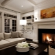 Classic fireplace in modern interior