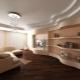 Vackra idéer för att dekorera tak med två nivåer av gipsskiva med bakgrundsbelysning