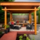 Furniture for gazebos: ideas of manufacturing and design