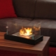 Desk fireplace: the original solution for a small home
