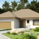 Single-storey houses with garage: popular options